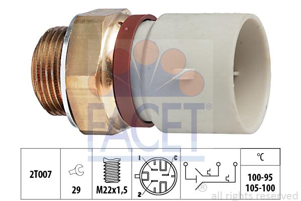 ventilateur radiateur CALORSTAT BY VERNET ts2649 Interrupteur de température