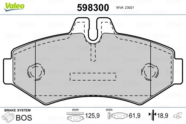 frein /à disque Triscan 8110 10515 Kit de plaquettes de frein