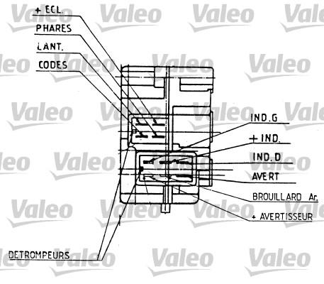 Valeo 251276 Commutateur de colonne de direction