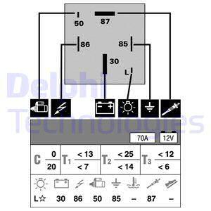 12V HELLA 4RA 007 507-021 Temporisateur de pr/échauffage